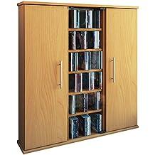 VCM 45023 Santo - Armario para 450 CD/DVD en madera de haya