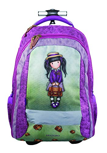 GORJUSS SCHOOL GIRL Cartella, 47 cm, Multicolore (Gruen Violett)