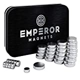 Emperor Magnets (30 Pieces) – Super Strong Refrigerator Magnets | Mini Powerful Fridge Magnets | 10 Small + 20 Large Round Magnets |Metal Silver Finish Ideal for Office Whiteboard, Dry Erase Board