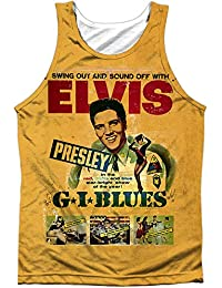 Elvis Presley King Of Rock Retro G.I. Blues Poster Front Print Tank Top Shirt