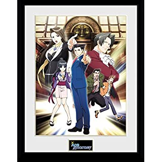 GB eye LTD, Ace Attorney, Key Art, Framed Print 30x40 cm, Wood Various, 52 x 44 x 3 cm