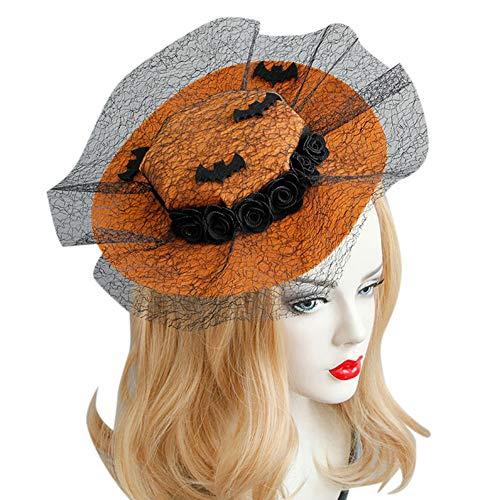 (FairOnly Halloween-Prinzessinnen-Hut für Damen, Haarclip, Coole Kostüm, Party-Haar-Accessoires)