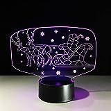 Mbambm 7 Colori 3D Visual Led Kids Usb Regalo Di Natale Luce Notturna Renna Slitta Lampada Da Babbo Natale Lampada Da Tavolo Car Sleep Lighting