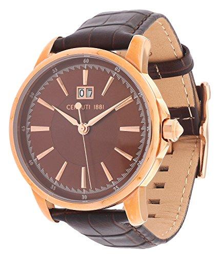 montre-hommes-cerruti-1881-quartz-affichage-analogique-bracelet-cuir-marron-et-cadran-marron-cra072a