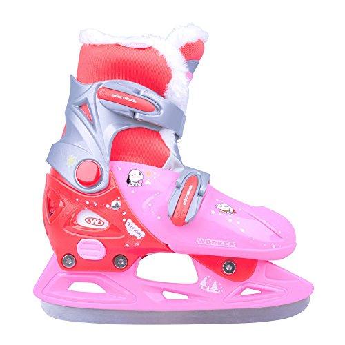 Kinder Schlittschuhe Kelly Pro Girl pink mit Kunstpelz Gr. 29-32, 33-36 verstellbar (33-36 verstellbar)