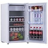 COSTWAY Kühlschrank mit Gefrierfach Standkühlschrank Gefrierschrank Kühl-Gefrier-Kombination