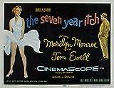 The Seven Year Itch, Marilyn Monroe, 1955- affiche de réimpression 24x19 pouces - sans cadre