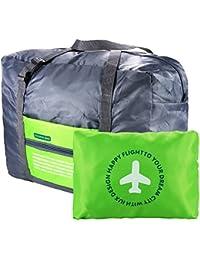 VILLAVIVI Bolsos de Avión con la Maleta de Mano Multifunción Gran Capacidad Plegable Portátil Bolsa de Viaje Equipaje - Azul Verde Naranja