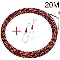PerGrate perg Transferencia Electricistas Alambre Threading Dispositivo Binders Kit Cable Guider Puller cableado Instalación Aid Tool, 20 m