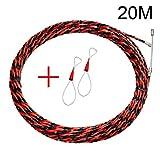 Domeilleur elettricista filo Threading dispositivo raccoglitori kit cavo Guider estrattore cablaggio Installazione strumento di aiuto, 20 m