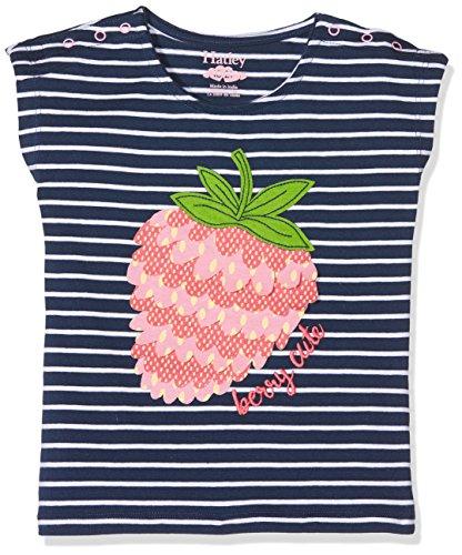 Hatley Baby Mädchen Top Mini Snap Graphic Tees, Mehrfarbig (Black/Berry Stripe), 86