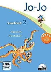Jo-Jo Sprachbuch - Aktuelle allgemeine Ausgabe: 2. Schuljahr - Arbeitsheft in Grundschrift mit CD-ROM
