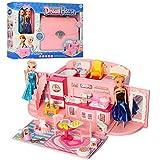 HALO NATION® Frozen Handbag Luxurious Dollhouse Set for Girls with Frozen Dolls Anna