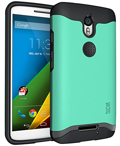 Motorola Droid Turbo 2 (Verizon) / Moto X Force (2015) Hülle, TUDIA Slim-Fit MERGE Dual Layer Schutzhülle für Motorola Droid Turbo 2 (Verizon) / Moto X Force (2015) (Minze)
