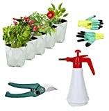 #9: Truphe Poly Grow Bags, UV Stabilized Grow Bags - (Pack of 5) with 1.5 - Litre Garden Pressure Spray Pump, Safety Gloves and Garden Cutter