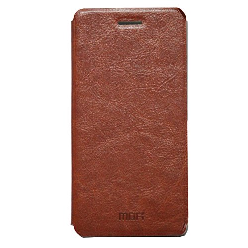 Jo Jo Mofi Leather Flip Cover Case With Slim Back Stand For Asus Zenfone 4.5 A450Cg Brown  available at amazon for Rs.69