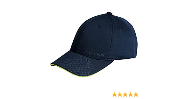Porsche Baseball Cap Blue and Acid Green Script Logo Golf Sport Collection   Amazon.co.uk  Car   Motorbike 2dab5b8e1782