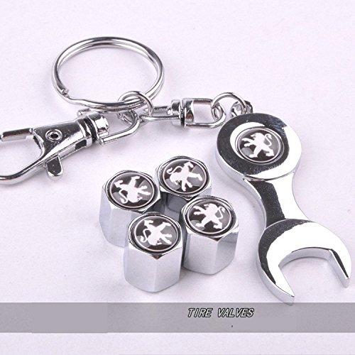 lot-de-4-bouchons-de-valve-de-pneu-de-la-poussiere-pour-voiture-avec-cle-keying-avec-logo-peugeot-en