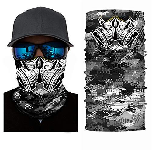 3D Balaclava Camouflage Pasamontañas Calavera Multifuncional Bufanda Prueba de Viento Microfibra Elástico Pañuelos Cabeza Bandana Ciclismo Bici Máscara Facial Protección UV Esquí Cintas de Pelo