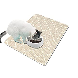 auoker dog food bowl mat, thick & durable silicone cat feeding placemat tray, no mess eating pad for bowls, non-slip, no spills out, waterproof, easy washing & pet safe for large medium small animals AUOKER Dog Food Bowl Mat, Thick & Durable Silicone Cat Feeding Placemat Tray, No Mess Eating Pad for Bowls, Non-Slip, No Spills Out, Waterproof, Easy Washing & Pet Safe for Large Medium Small Animals 51hpqCE6J8L