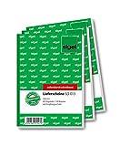 Sigel SD013 - Blocco di bolle di consegna in carta copiativa (2 fogli), con ricevuta di ricezione, 1°, e 2a Foglio stampati, formato A6, 2 blocchi da 3 x 40 fogli