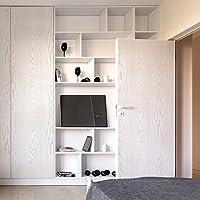 Fancy-fix Papel Pintado Autoadhesivo Vinilo Mueble Papel de contacto Imitación Madera Material PVC Impermeable Resistente Extraíble Color Blanco Dimensión 40CM x 300CM