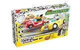 Micro Scalextric G1141 My First Looney Tunes with Bugs Bunny Vs Daffy Duck Jeu de Jouets de Course à Piles Multicolore