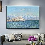 Kunst Segeln Nordic Wandbild Boot Meer Leinwand Malerei für Wohnzimmer Dekoration (Kein Rahmen) A4...