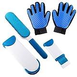 PET SPPTIES Pet Bürste Handschuh, Pet Tierbürste Katzenbürste, Handschuh zur einfachen Entfernung loser Tierhaare, Hund und Katze PS008 (2 PCS With Fur Lint Brush)