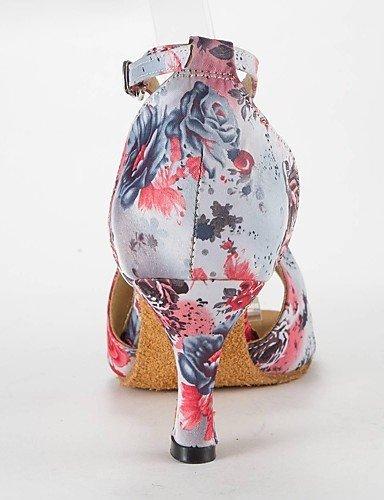 ShangYi Les sandales de femmes latines satin talon aiguille Buckie chaussures de danse Pink