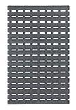 Wenko Wanneneinlage Arinos Antirutsch-Badewannenmatte mit Saugnäpfen, Kunststoff, Grau, 63 x 40 x 0.1 cm