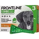 Frontline Combo, 3 Pipette, Cane Taglia S (2 - 10 Kg), Antiparassitario per Cani e Cuccioli di Lunga Durata, Protegge il Cane