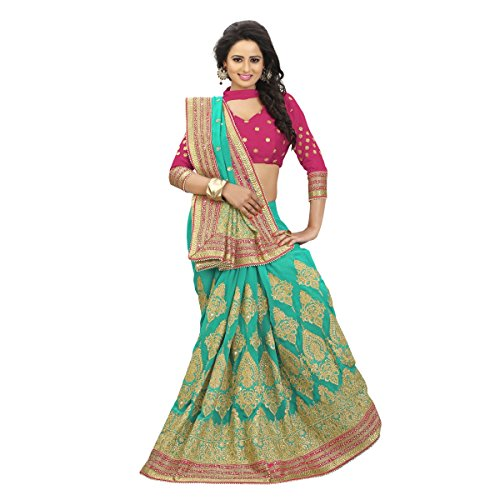 indian-regal-de-couleur-verte-brodee-faux-georgette-saree-par-triveni