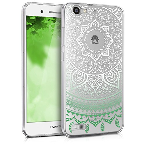 kwmobile Huawei GR3 / P8 Lite SMART Hülle - Handyhülle für Huawei GR3 / P8 Lite SMART - Handy Case in Mintgrün Weiß Transparent