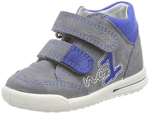 Superfit Baby Jungen Avrile Mini Sneaker, Grau (Smoke Kombi), 19 EU
