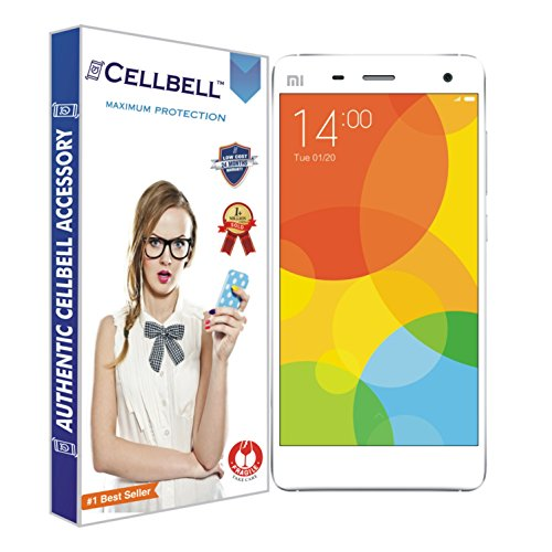 Cellbell Premium Xiaomi Mi 4 (Clear) Tempered Glass Screen Protector (Comes with Warranty,User guide,Complimentary Prep cloth)