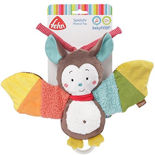 Fehn 067613 Spieluhr Fledermaus – Aufzieh-Spieluhr mit herausnehmbarem Spielwerk zum Aufhängen, Rascheln und Greifen, für Babys und Kleinkinder ab 0+ Monaten - 6