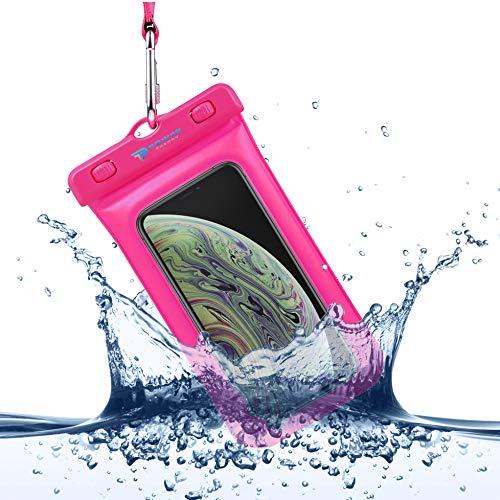 Power Theory wasserdichte Handyhülle - Wasserfeste Handytasche Handyschutz Cover Beutel Beachbag Tasche Handy Hülle Waterproof Case - iPhone X/XS 8 7 6s Samsung S10 S9 S8 S7 und viele mehr (Pink) - S3 Galaxy Case Samsung Waterproof