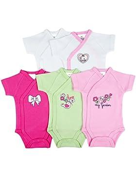 5er-Pack Baby Bodys Wickelbodys