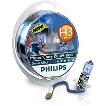 Philips 13336MDBVB1 MasterDuty BlueVision - Bombilla H3 para faros delanteros (1 unidad, 24 V, 70 W)
