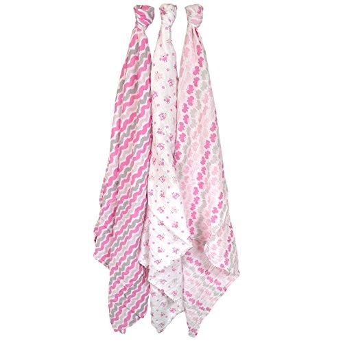 Just Born 413700L - Pack de 3 muselinas, color rosa
