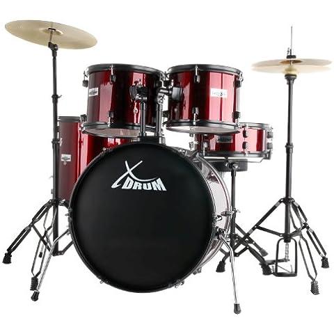 Batteria acustica completa -XDrum Rookie - finitura Rosso