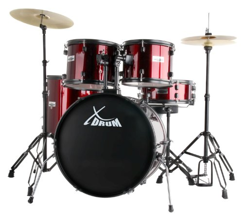 "XDrum Rookie 22"" Standard Schlagzeug Komplettset Ruby Red & inkl. Schule + DVD"