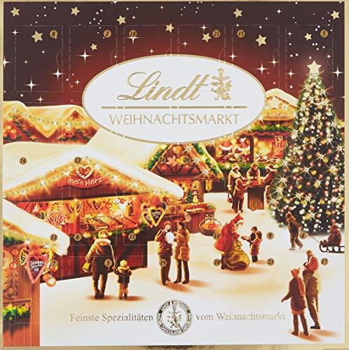 Lindt & Sprüngli Weihnachtsmarkt Tisch Adventskalender