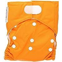 EASYPU Pañales lavables naranja- Súper versátiles y absorbentes - Con tela de microfibra - Producido