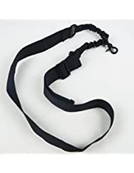ruifu Nylon Tactical Single Point Sling con correa Bungee Rifle pistola ajustable sistema, negro