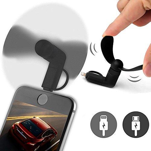 Mini USB Eléctrica Ventilador,Ventilador de Bolsillo alimentado vía USB,Bastante Peso ligero USB...