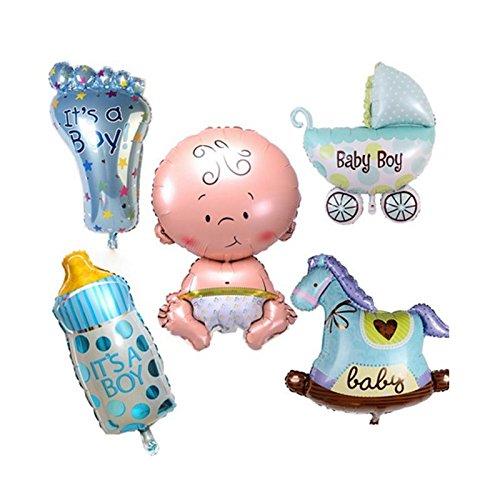 Teabelle Lovely - Globos de Bautizo Gigantes para Niños y Niñas regalo y juguete, 5 Unidades