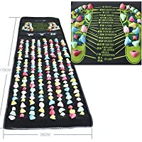 1,7 m x0.35 m farbigen Fußreflexzonen Massage Bein Massagegerät Matte Health Care Yosoo