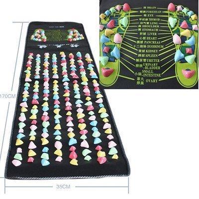 Yosoo 1.7m x0.35m Colored Reflexology Walk Stone Foot Massage Leg Massager Mat Health Care